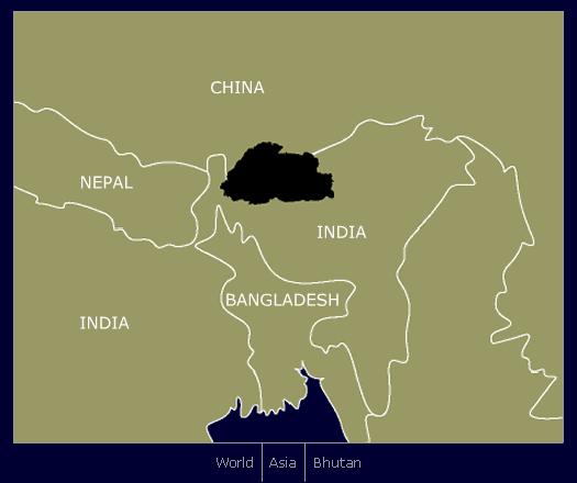 Bhutan in Asia